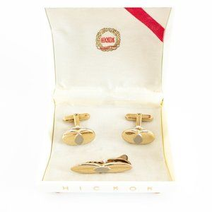 Hickok Cufflinks and Tie Bar Set